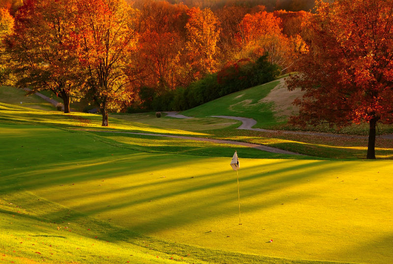 bigstockphoto_sunset_at_the_golf_course_1003793