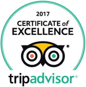 2017 Certificate of Excellence badge from TripAdvisor