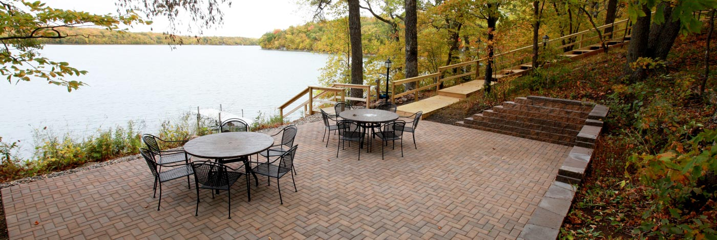 Lakeside patio
