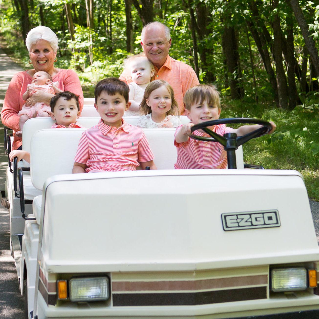 family at minnesota family resort