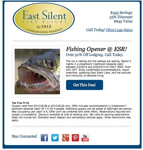 Fishing Opener Deal